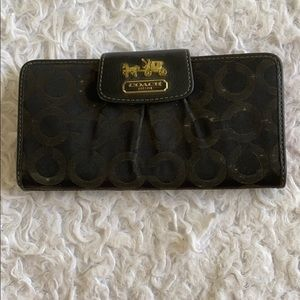 COACH black and pink wallet